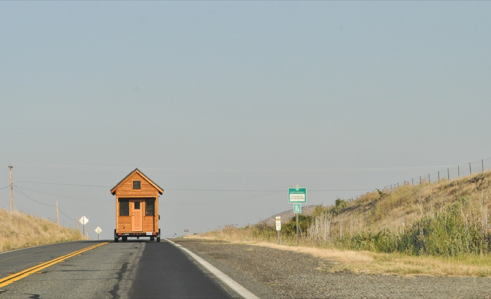 A tiny home on the move. (Tammy Strobel/Flickr via CC 2.0)