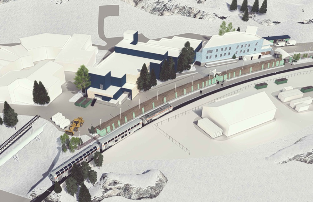 A concept drawing of the new platform that will welcome trains at Winter Park resort beginning in 2017 (Courtesy Winter Park Resort)