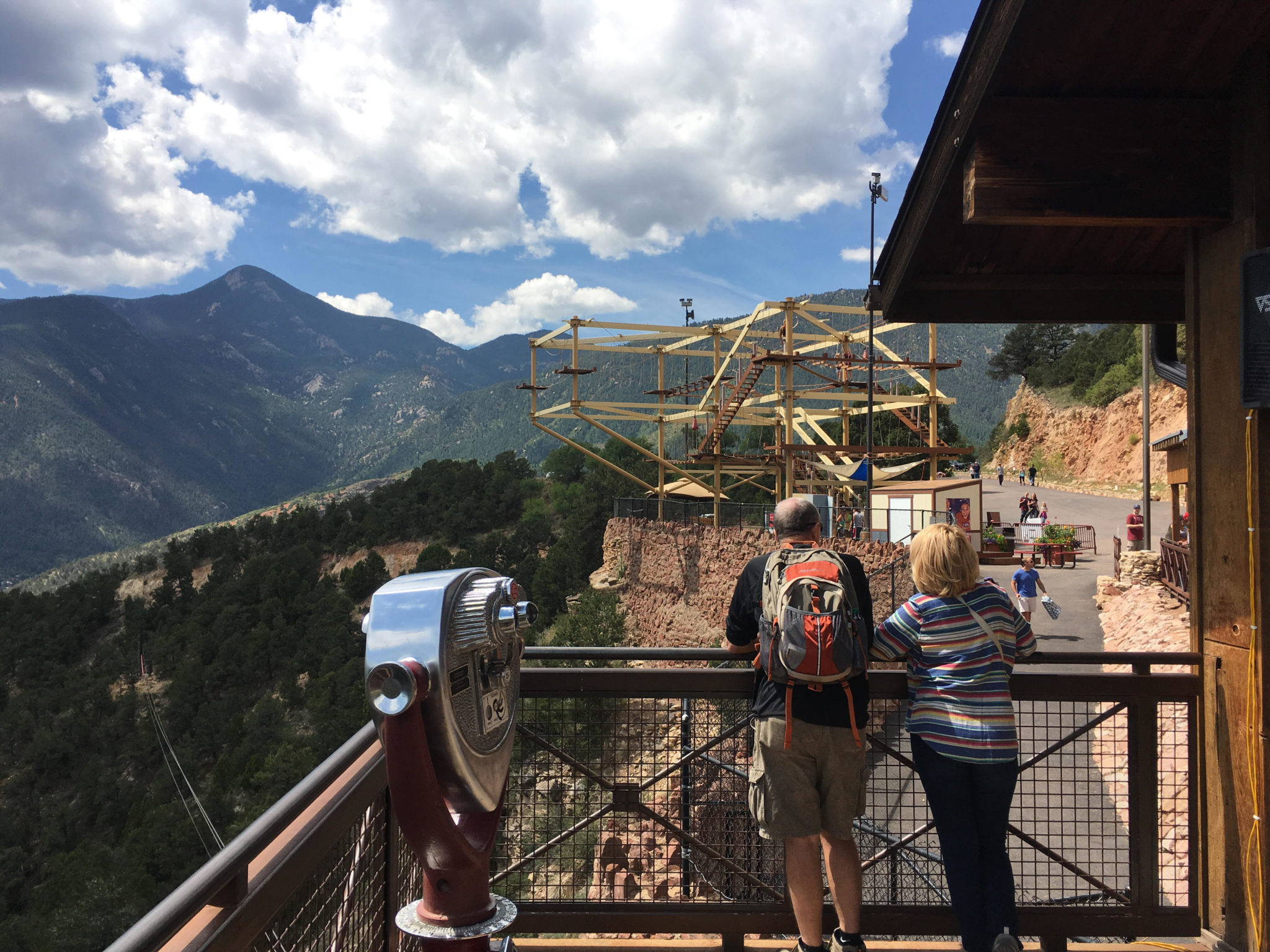A nice view from the balcony at Cave of the Winds in Manitou Springs. (Dave Burdick/Denverite)