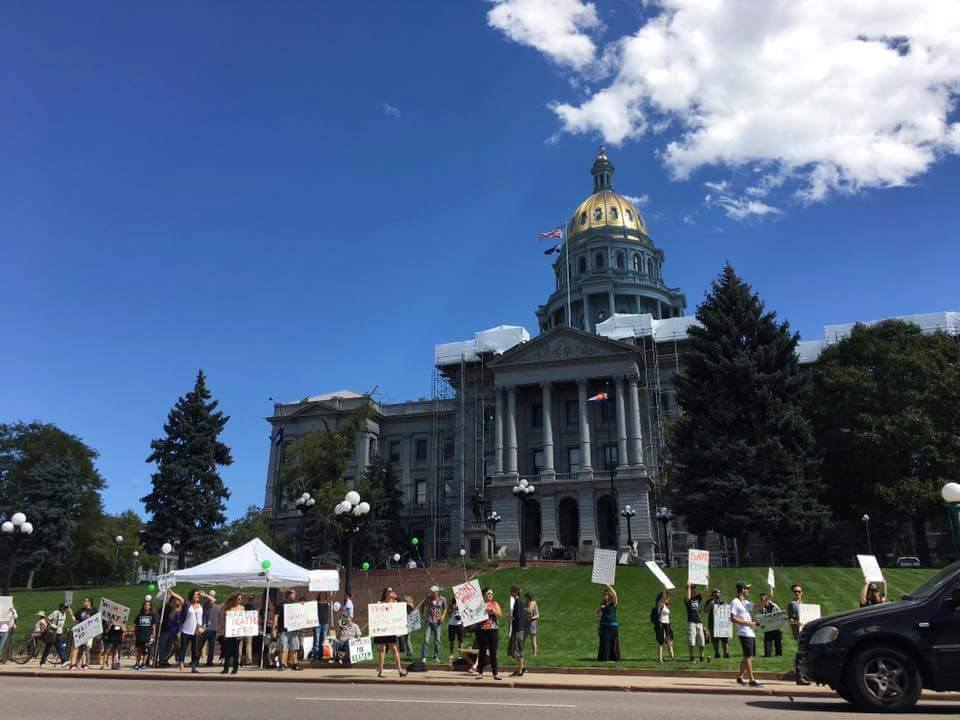 A pro-kratom protest at the Capitol. (Courtesy Jeremy Haley)