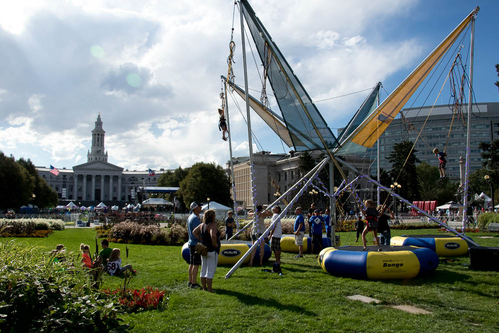 Civic Center Park during Taste of Colorado. (Chloe Aiello/Denverite)