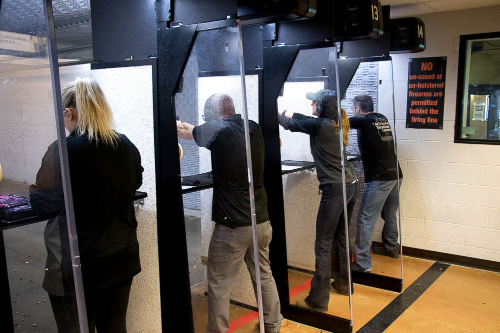 NRA trainers class at Bristlecone Shooting, Training and Retail. (Chloe Aiello/Denverite)