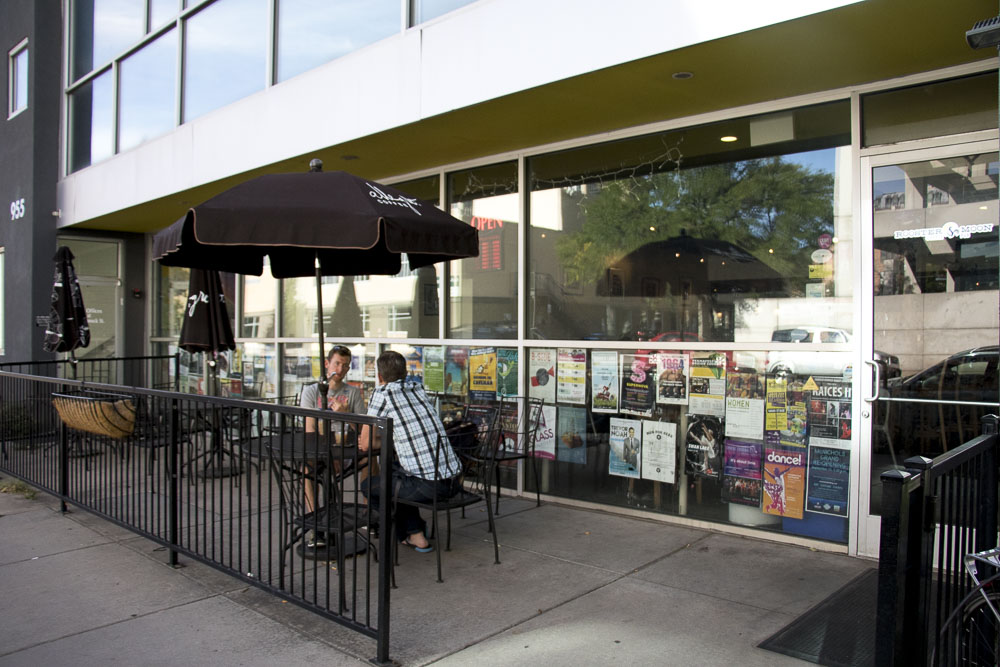 Rooster and Moon Coffee Shop and bar on Bannock Street. (Chloe Aiello/Denverite)
