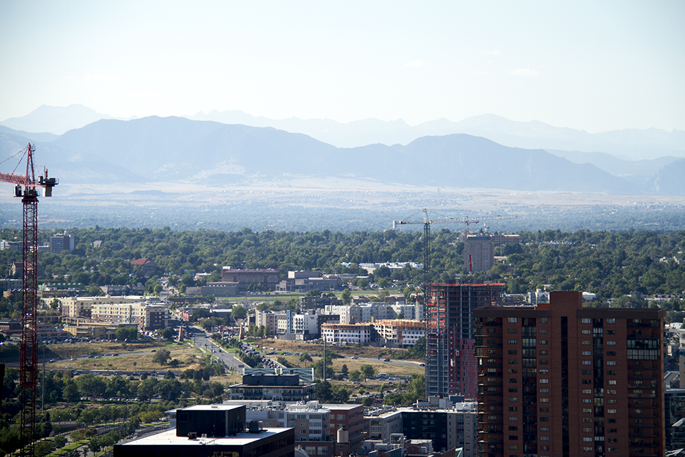 Denver, looking eastward. (Kevin J. Beaty/Denverite)  landscape; cityscape; denver; colorado; cowx; weather; kevinjbeaty; denverite; construction