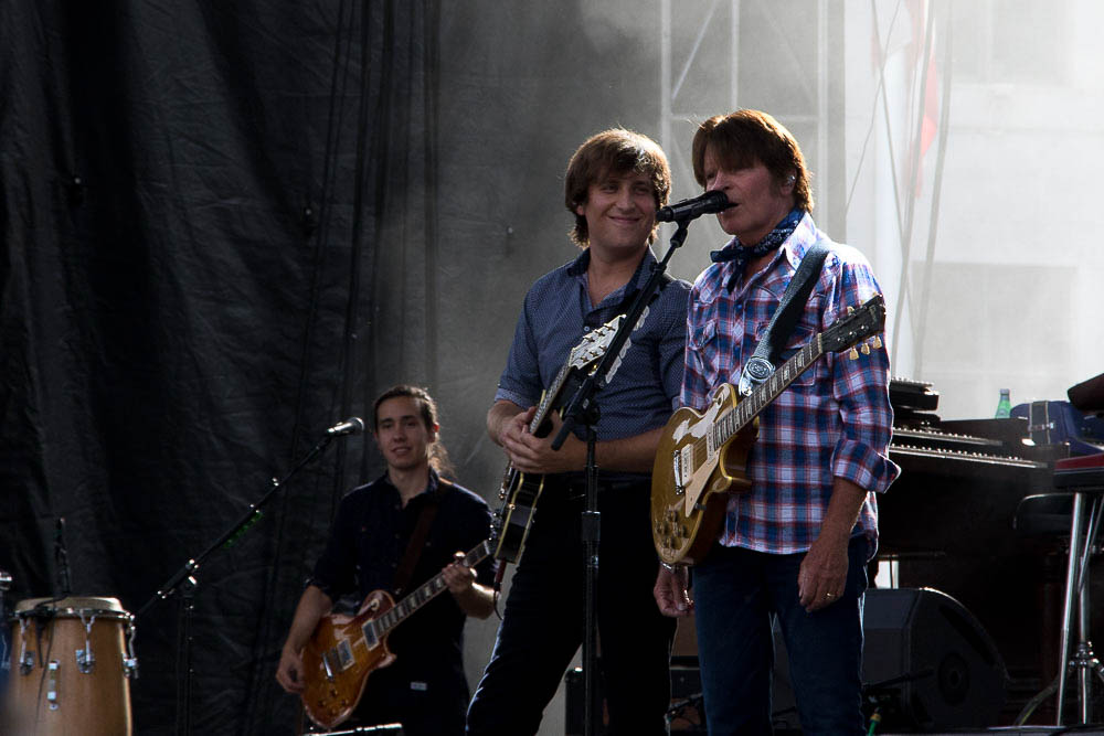 John and Shane Fogerty at CO Remembers 9/11. (Chloe Aiello/Denverite)