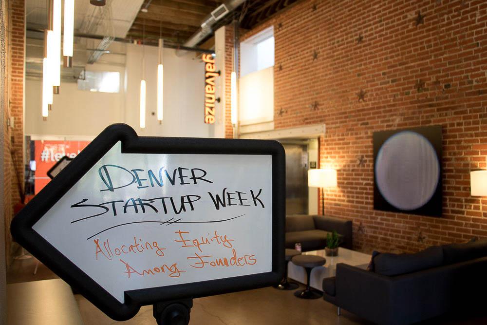 Denver Startup Week at Galvanize. (Chloe Aiello/Denverite)