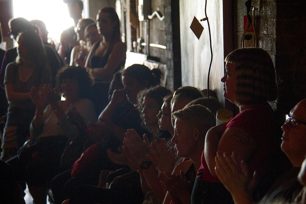 The audience cheers. (Kevin J. Beaty/Denverite)