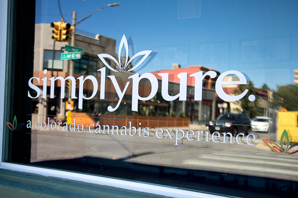 Simply Pure dispensary in Highlands. (Chloe Aiello/Denverite)
