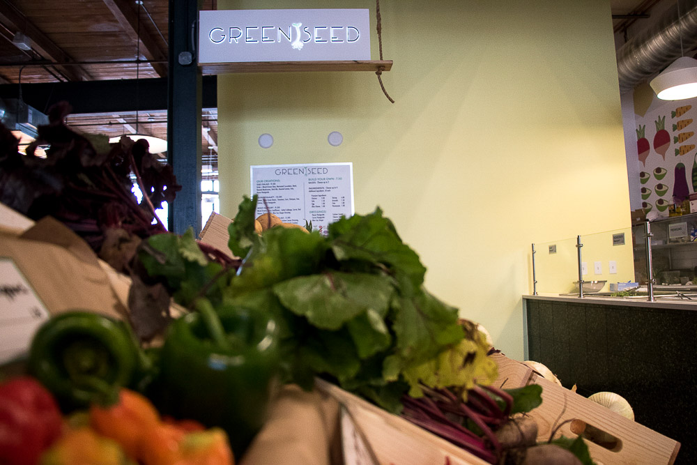 Green Seed produce at Central Market. (Chloe Aiello/Denverite)