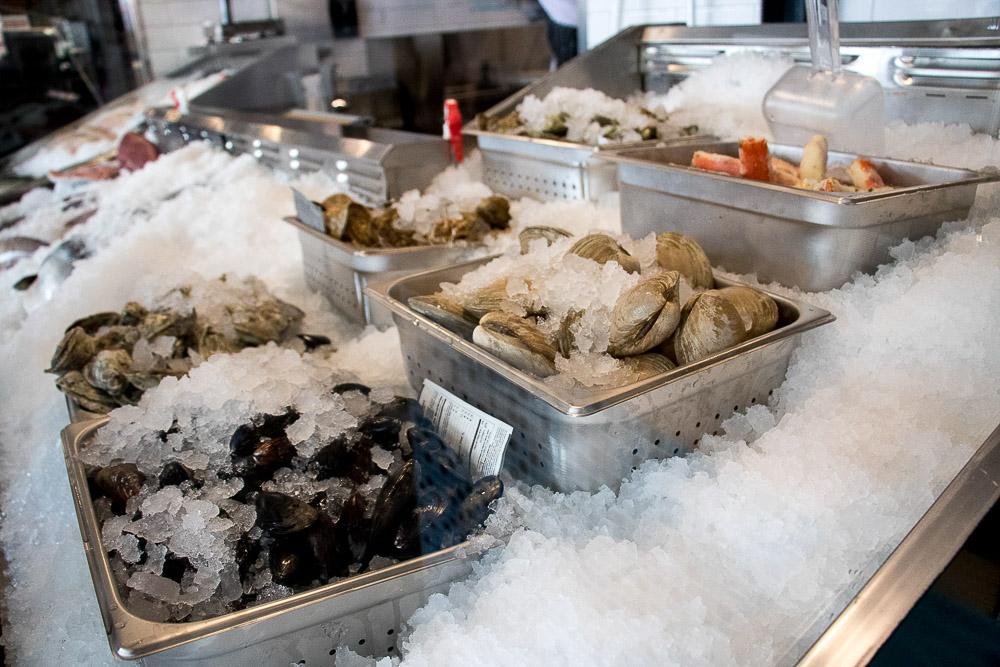 Silva's Fish Market in Central Market. (Chloe Aiello/Denverite)
