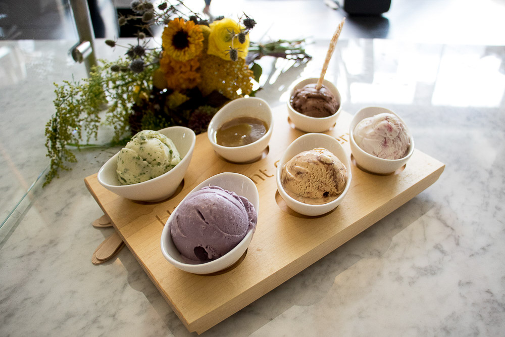 Ice cream selection from High Point Creamery at Central Market. (Chloe Aiello/Denverite)