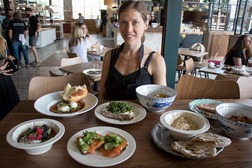 Robin (last name?), head chef at Izzio at Central Market. (Chloe Aiello/Denverite)