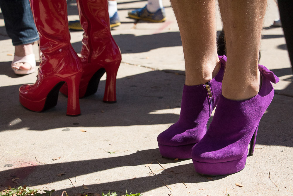 Shoe envy at the Running of the Gays. (Chloe Aiello/Denverite)