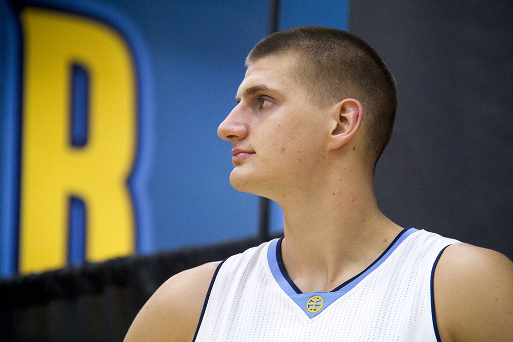 Center Nikola Jokić at the Denver Nuggets press day, Sept. 26, 2016. (Kevin J. Beaty/Denverite)  pepsi center; nuggets; basketball; sports; kevinjbeaty; denver; colorado; denverite;