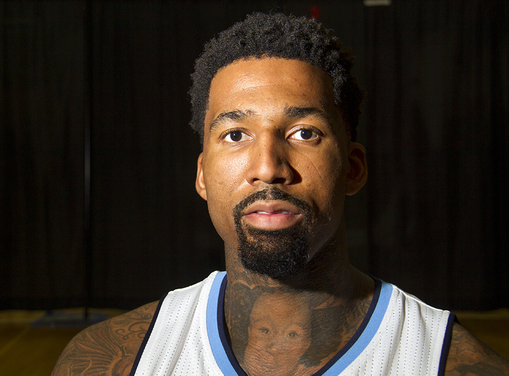 Forward Wilson Chandler at the Denver Nuggets press day, Sept. 26, 2016. (Kevin J. Beaty/Denverite)  pepsi center; nuggets; basketball; sports; kevinjbeaty; denver; colorado; denverite;