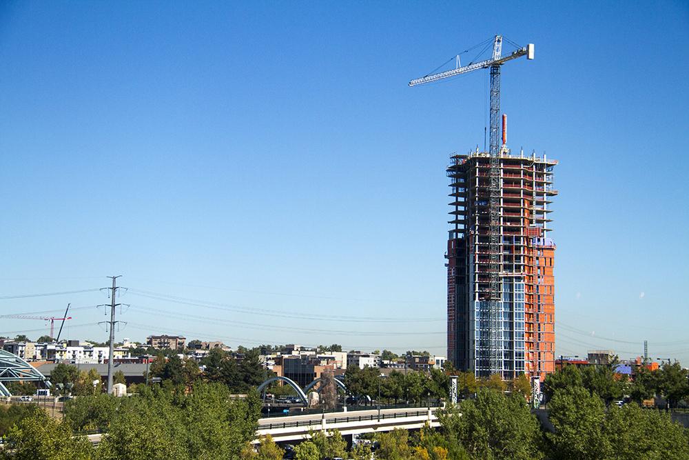 Construction as seen from the Pepsi Center. (Kevin J. Beaty/Denverite)  construction; real estate; development; kevinjbeaty; denver; colorado; denverite;