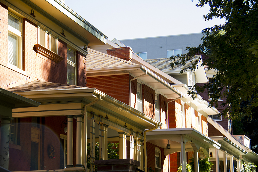 Homes in the Cheesman Park neighborhood. Cheesman Park. (Kevin J. Beaty/Denverite)  residential real estate; house; home; cheesman park; denver; denverite; kevinjbeaty; colorado;