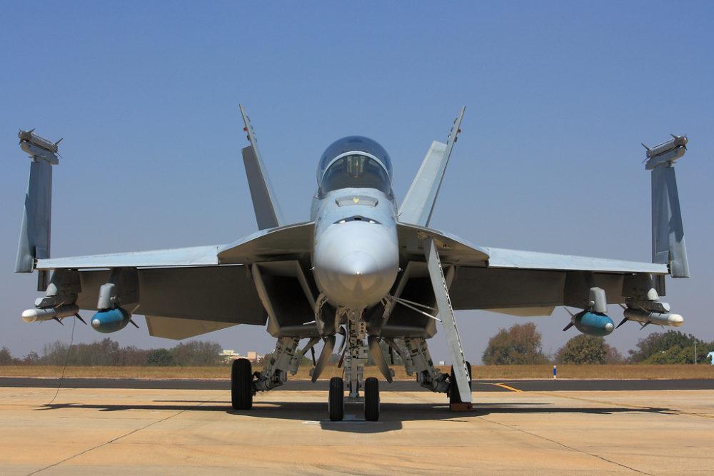 Boeing's F-18 Hornet. (Ruben Alexander/Flickr)