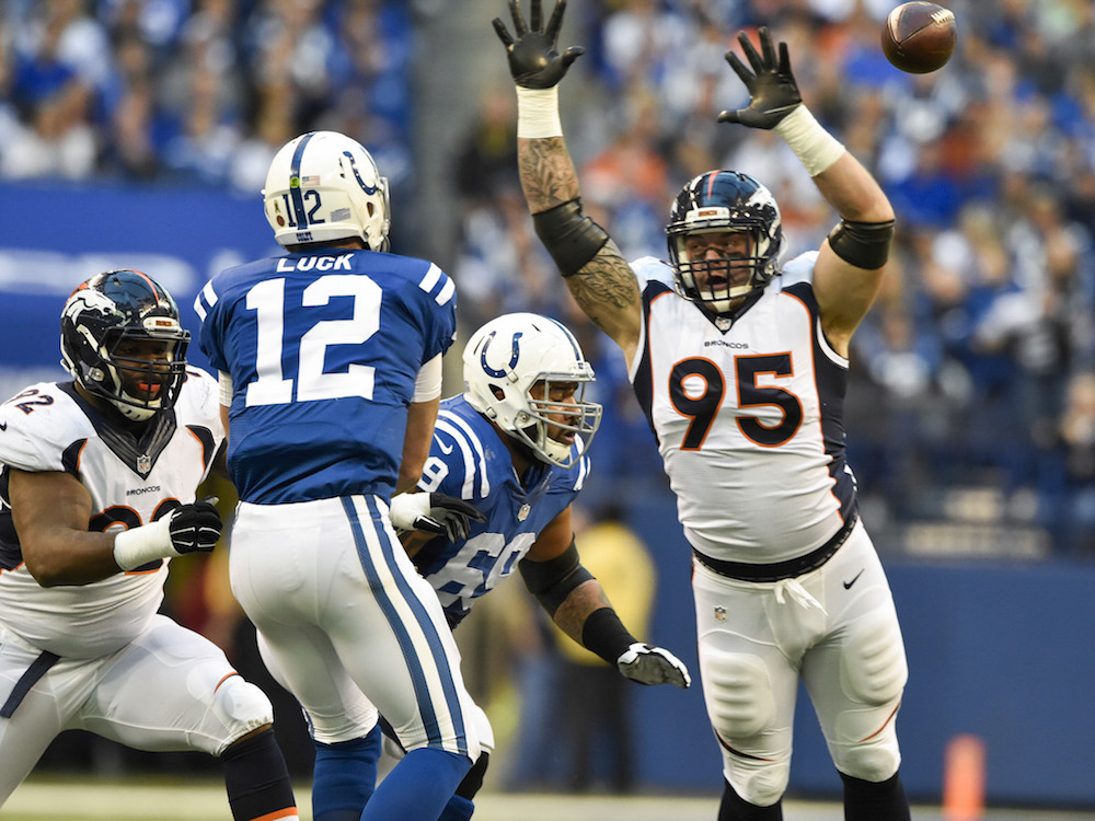 Colts quarterback Andrew Luck looks healthy after a tough 2015. (Eric Lars Bakke/ Denver Broncos)