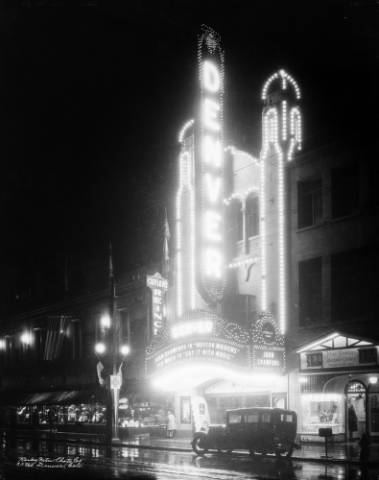 The Denver Theater at 510 16th St. on Sept. 6, 1929. (Denver Public Library/Western History Collection/X-24595)