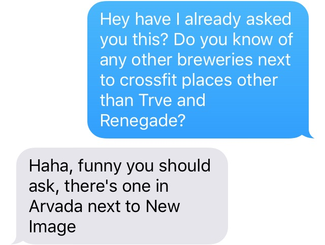 Beer and CrossFit chat question. (Dave Burdick)