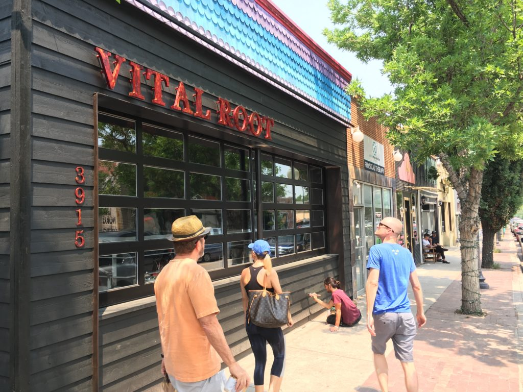 Vital Root vegetarian restaurant, pictured here just after opening in the summer of 2016. (Dave Burdick/Denverite)