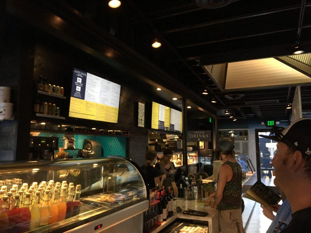 Ordering food at Vital Root's counter. (Dave Burdick/Denverite)