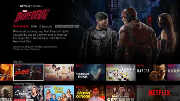 The home page of Netflix. (Courtesy of Netflix)
