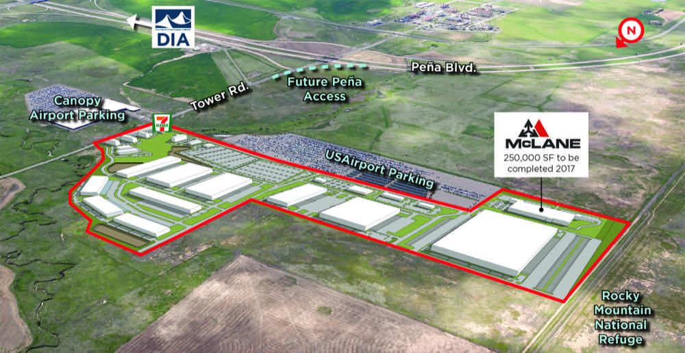 A rendering of the 250-acre Nexus at DIA industrial site. (Courtesy of The Schuck Corp.)