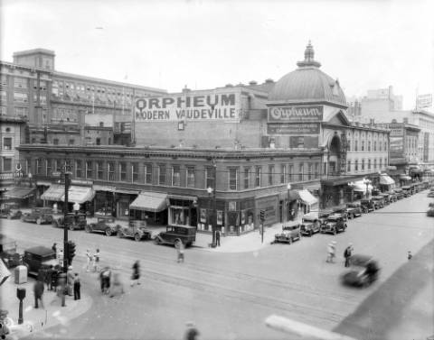 The Orpheum Theater at 1513 Welton St. at an unknown date. (Denver Public Library/Western History Collection/X-24697)