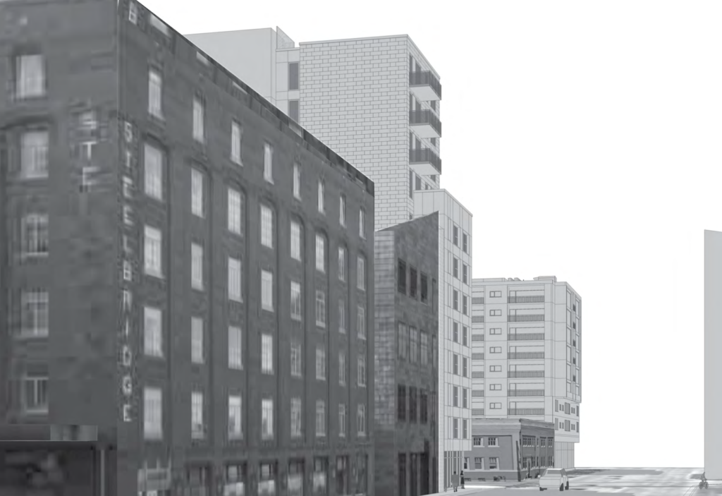 Another view of the proposed microstudios at 15th Street and Wewatta. ( Lower Downtown Design Review Board)