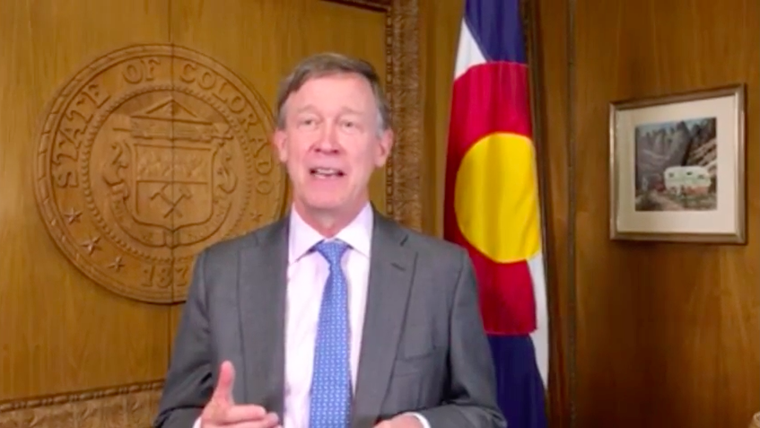 Screenshot of Gov. John Hickenlooper fundraising video.