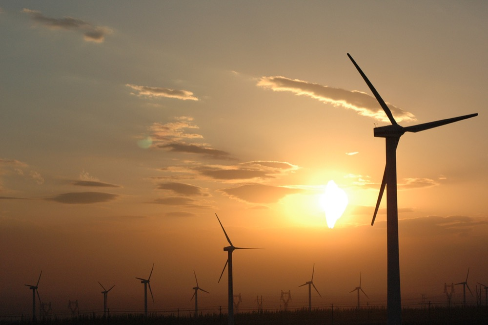 Wind turbines in China. (Chris Lim/Wikimedia Commons)