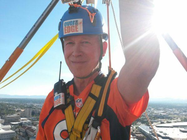 Putting on a brave face. (Kevin J. Beaty/Denverite)