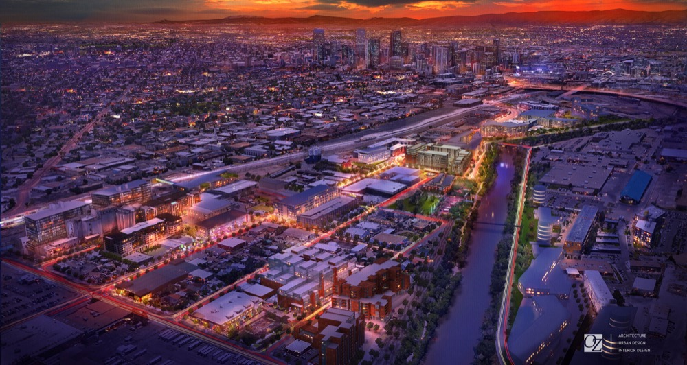 OZ Architecture's rendering of River North in 2020. (OZ Architecture)