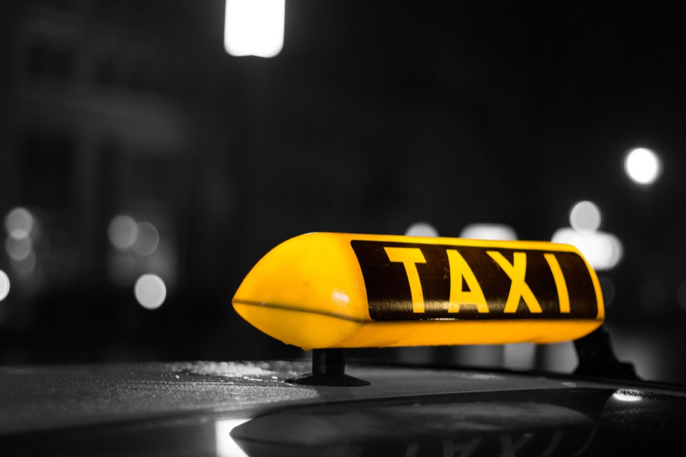 A taxi light, edited for effect. (GörlitzPhotography/Flickr)