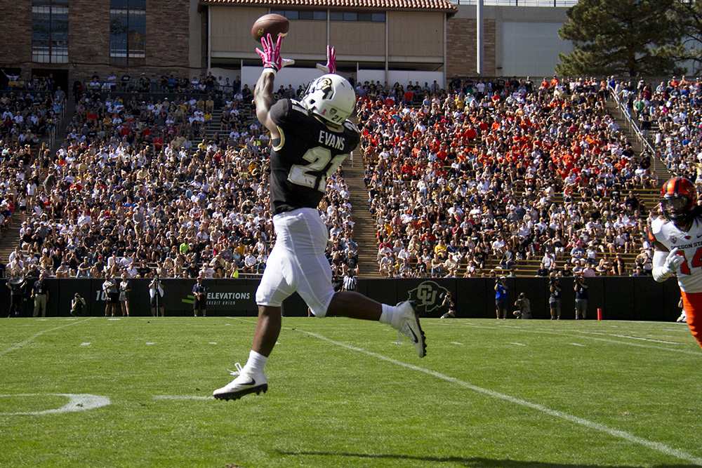 CU Buffaloes vs Oregon State Beavers. Oct 1, 2016. (Kevin J. Beaty/Denverite)  cu; university of colorado; boulder; football; sports; kevinjbeaty; denverite; colorado;