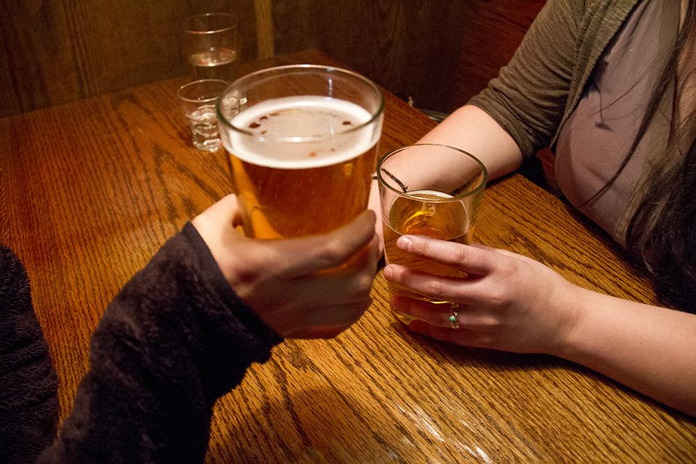 Drinking beers. (Kevin J. Beaty/Denverite)  beer; nightlife; kevinjbeaty; bars; denverite; denver; colorado;