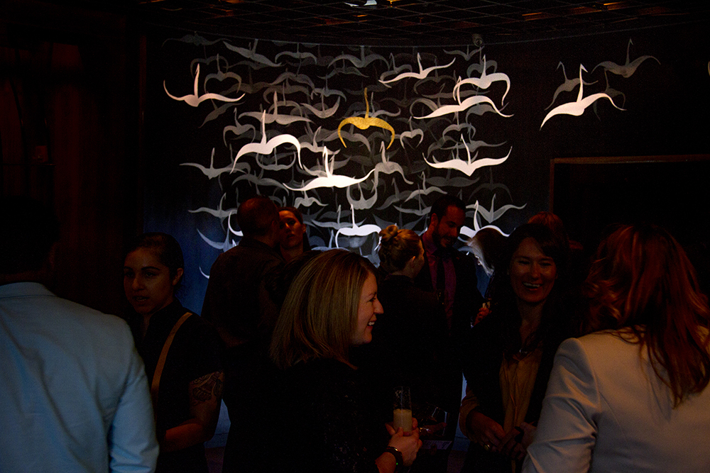 Zengo's avian-inspired interor design, seen during their grand re-opening. Oct. 5, 2016. (Kevin J. Beaty/Denverite)  zengo; food; restaurant; union station; kevinjbeaty; denver; denverite; colorado;