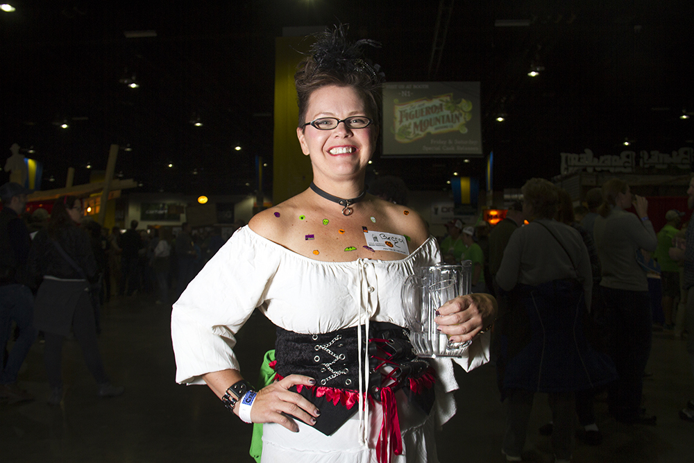 Great American Beer Fest volunteer Becca Foster. Oct. 6, 2016. (Kevin J. Beaty/Denverite)  great american beer fest; gabf; denver; colorado; food; nightlife; kevinjbeaty; denverite; denver; colorado;
