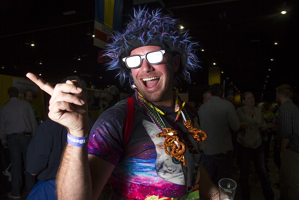 Denverite Jason Miller, AKA the Cosmic Kitty, strikes again at the Great American Beer Fest, Oct. 6, 2016. (Kevin J. Beaty/Denverite)  great american beer fest; gabf; denver; colorado; food; nightlife; kevinjbeaty; denverite; denver; colorado;