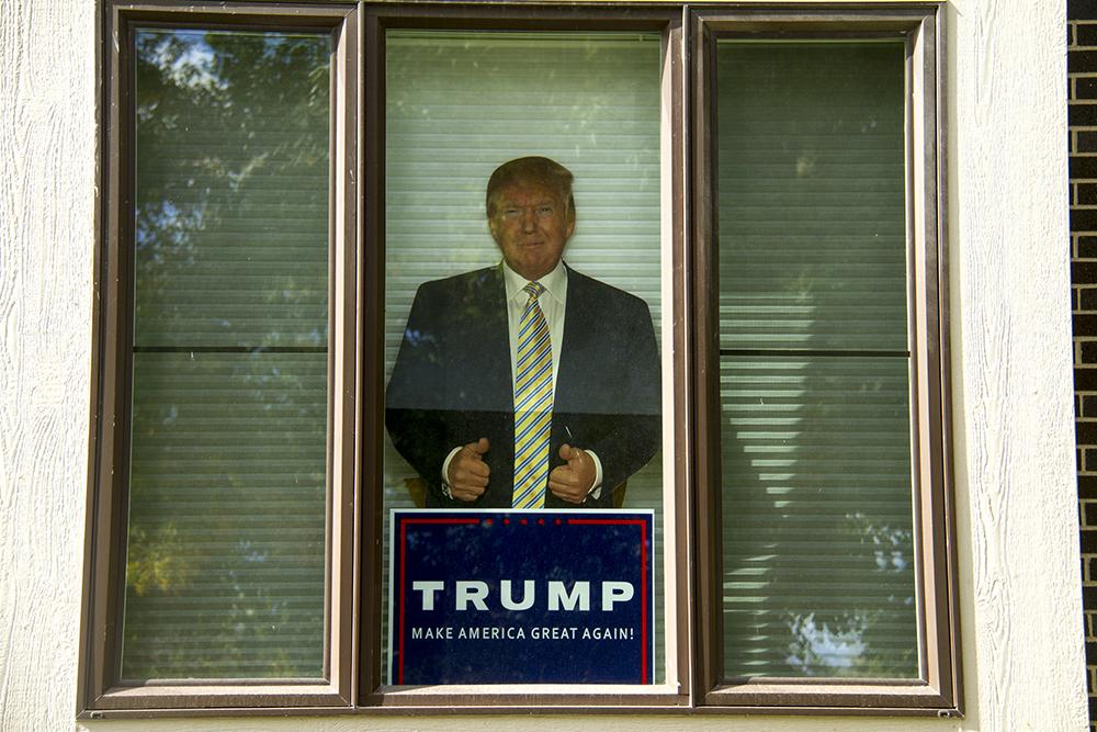 campaign sign. (Kevin J. Beaty/Denverite)  trump; campaign sign; politics; copolitics; election; denver; colorado; denverite; kevinjbeaty
