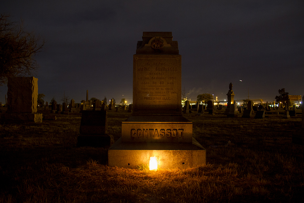 The grave of Marie Contassot, a red light district worker who was murdered in 1894. (Kevin J. Beaty/Denverite)  riverside cemetery; history; kevinjbeaty; denverite; denver; colorado;