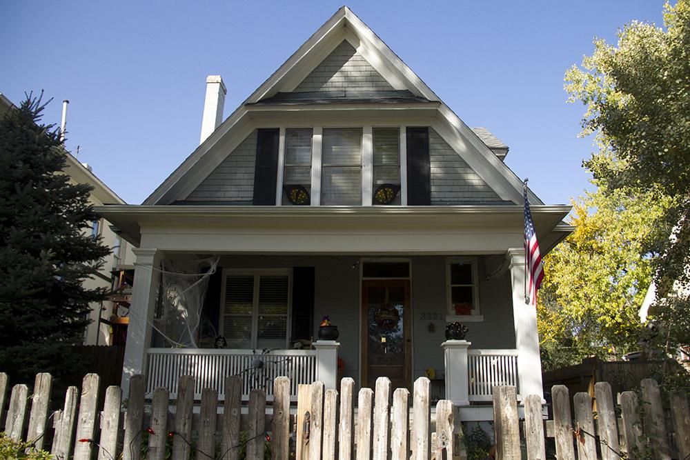 A Halloweeny home in Park Hill. (Kevin J. Beaty/Denverite)  residential real estate; park hill; denver; colorado;