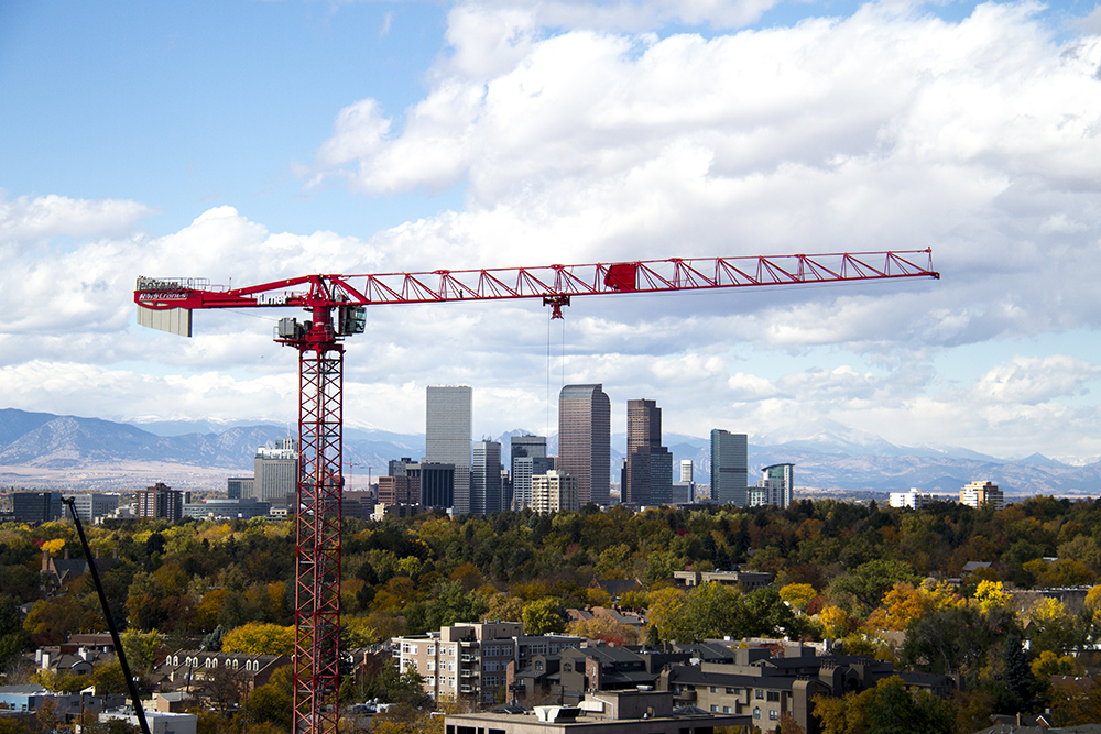 Denver on an autumn day. (Kevin J. Beaty/Denverite)  construction; development; skyline; cityscape; denver; colorado; weather; cowx; autumn; kevinjbeaty; denverite;