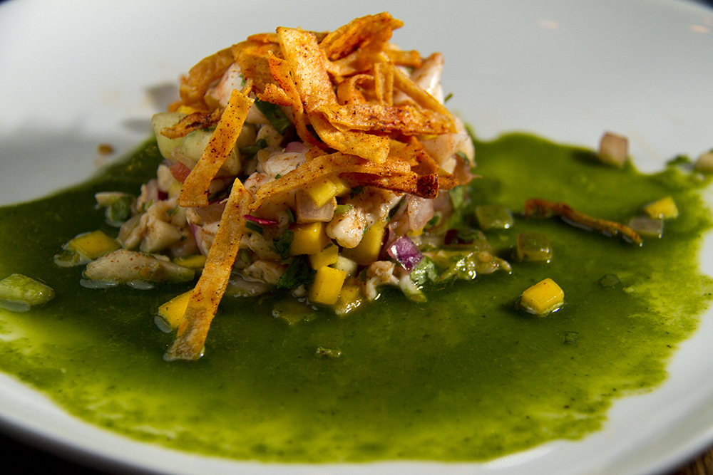 Ceviche at Latigo's press preview, Oct. 18, 2016. (Kevin J. Beaty/Denverite)  latigo; food; lodo; ballpark; kevinjbeaty; denverite; denver; colorado;