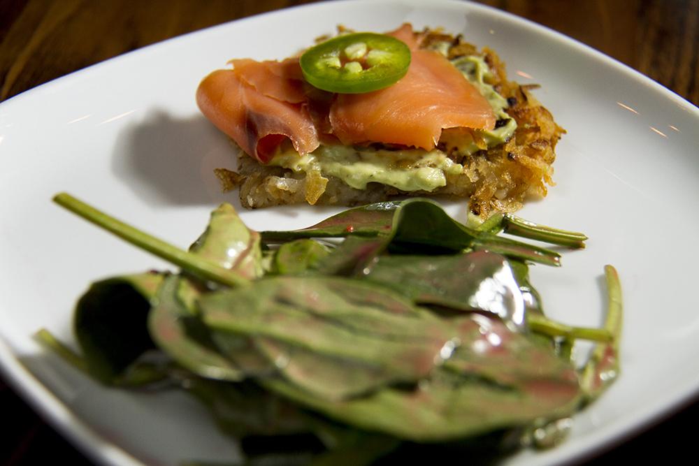 Pastel de salmon at Latigo's press preview, Oct. 18, 2016. (Kevin J. Beaty/Denverite)  latigo; food; lodo; ballpark; kevinjbeaty; denverite; denver; colorado;