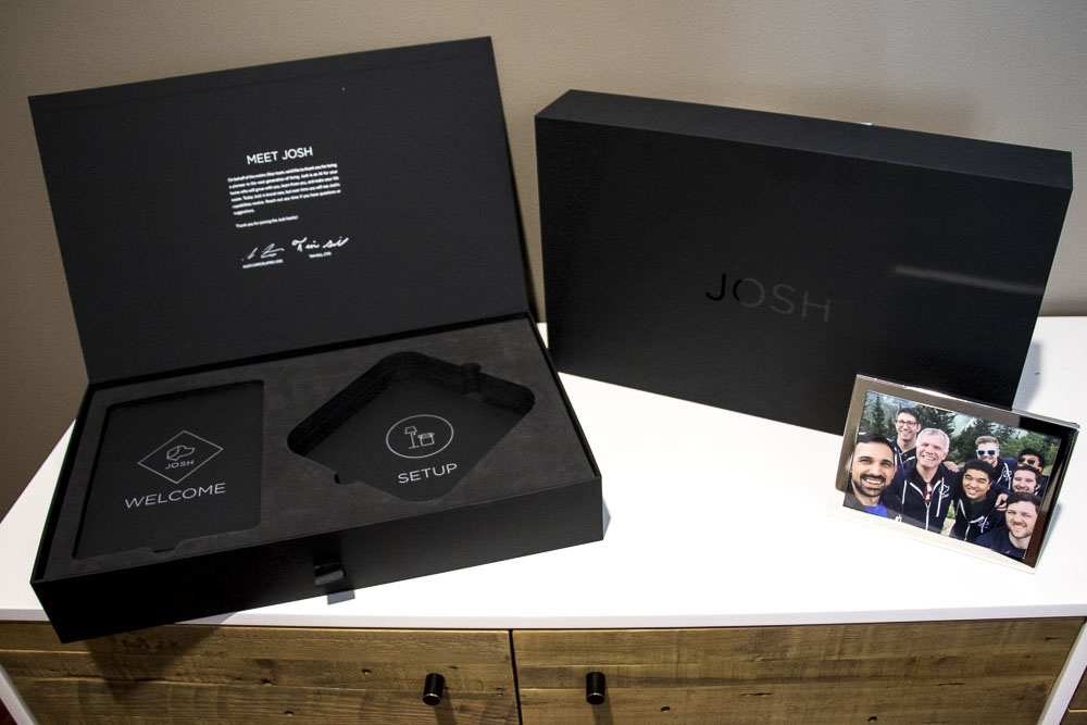 Josh.ai packaging from JStar. (Chloe Aiello/Denverite)