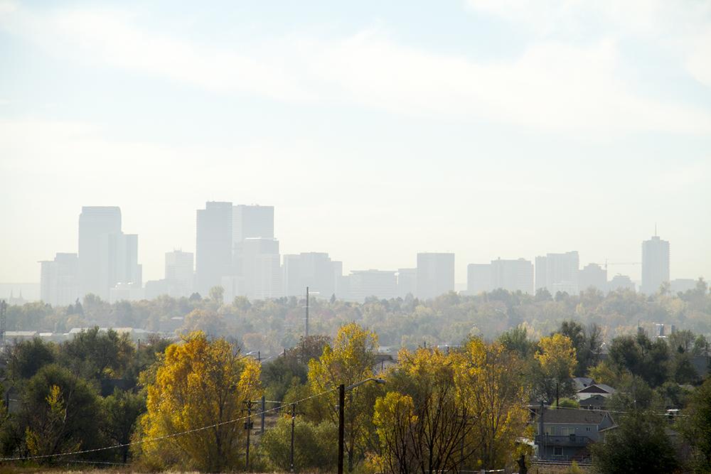 A hazy day over Denver. (Kevin J. Beaty/Denverite)