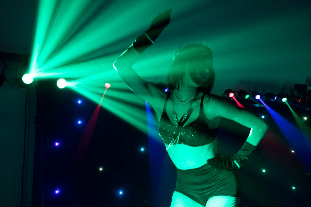 Shaylin from Team EZ Entertainment dances at Sync It! (Chloe Aiello/Denverite)